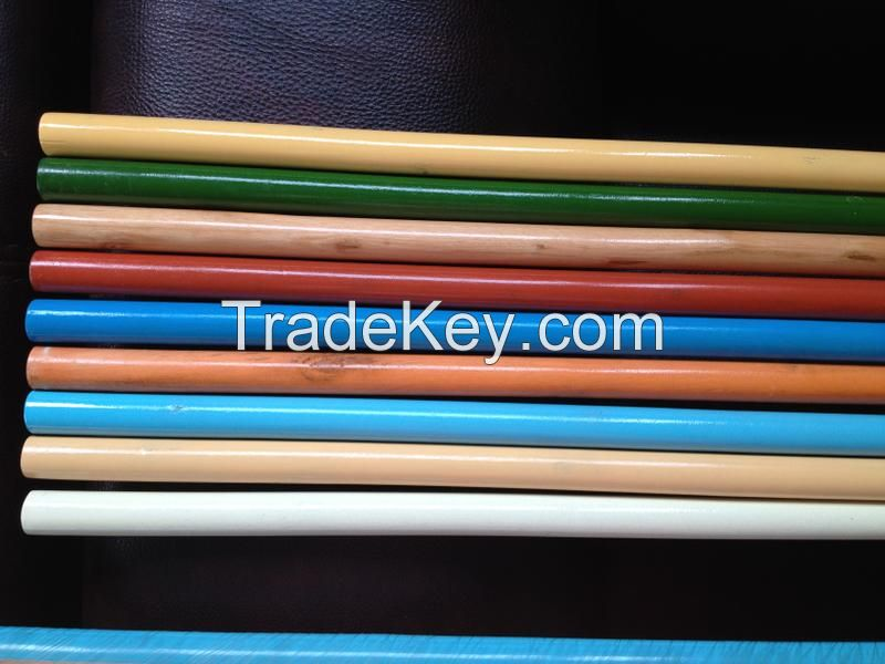 Hot Cleaning Tools broom wooden sticks for mop broom PVC coated