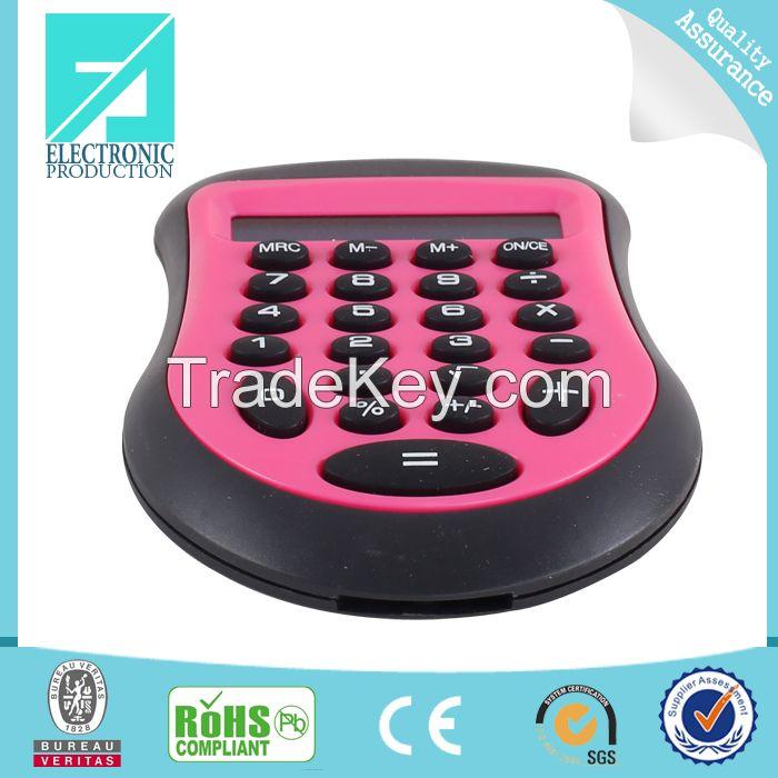 Fupu 8 digit plastic calculator in blue color
