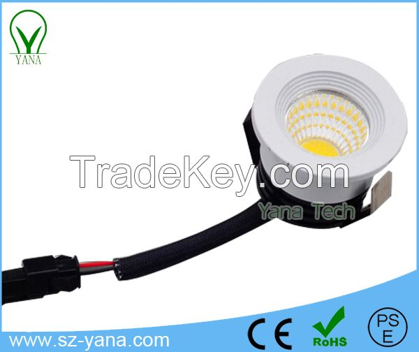 3W COB led mini Jewelry led downlight / led down light