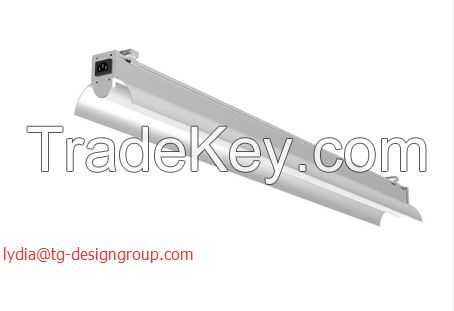 LED Tube Bracket Light to replace T8/T5 tube fixture with reflector high bay light, linear high bay, high bay tube