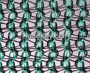 hdpe mono knitted 100gsm , 2x50m dark green  garden netting