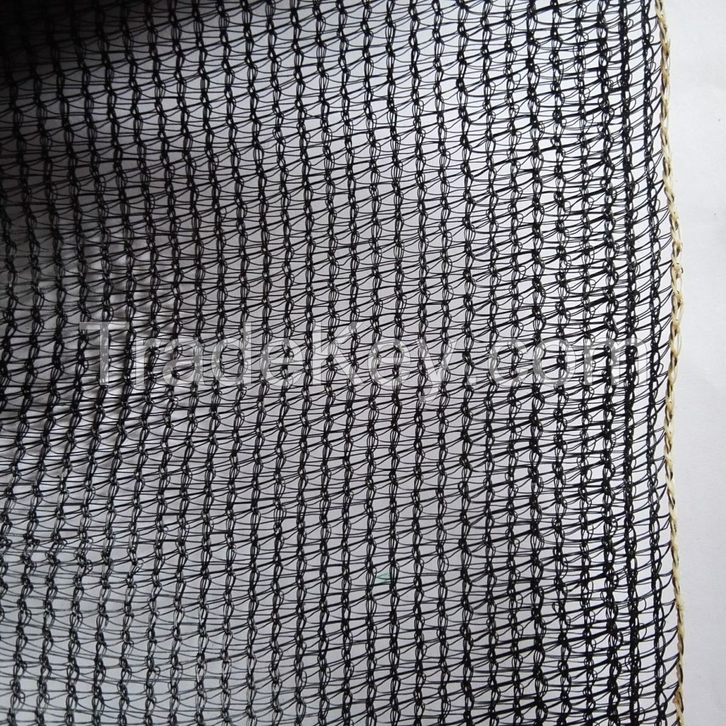 hdpe virgin material black sun shade netting