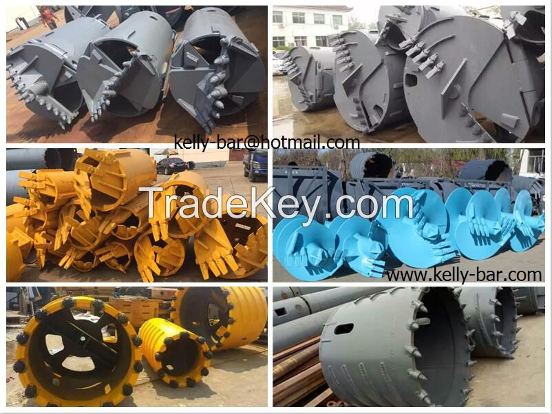Drilling rig piling machine drilling buckets, drilling auger, Core barrel, Gerabox
