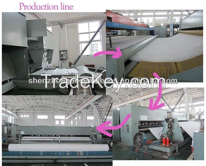 polyeater staple fiber needle punched non woven geotextile
