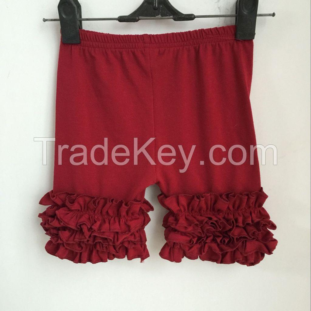 DYJ-084 2016 newest icing ruffle capri pants high quality baby icing ruffle shorts