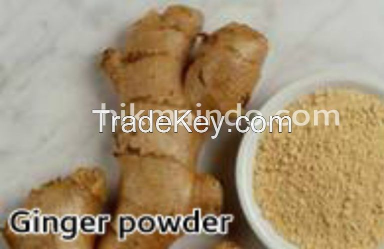 Ginger powder-washed, sliced and dried