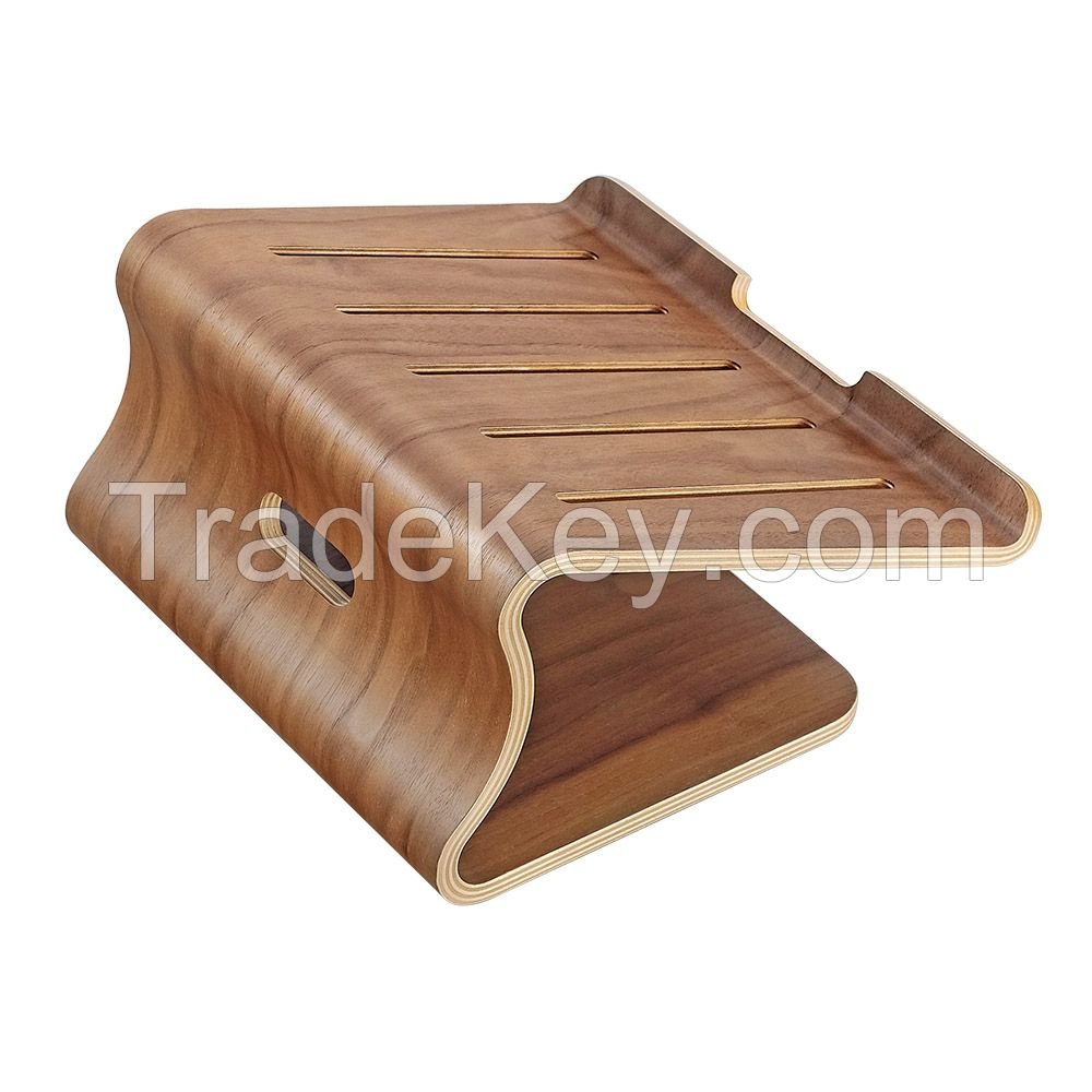 Bamboo Wood Laptop Notebook Stand Holder Riser for macbook air pro and universal laptops
