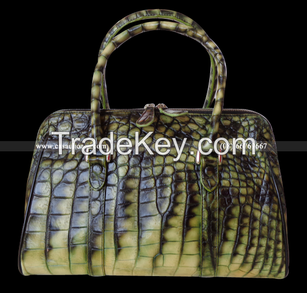Crocodile and python leather products