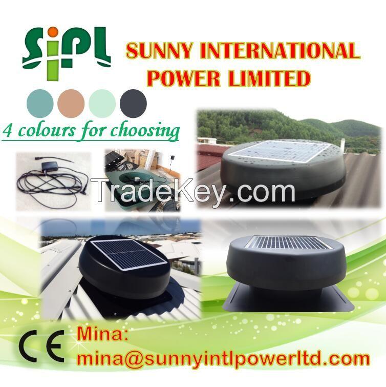(Solar) Panel Poweredindustrial roof ventilation fan roof top ventilation fan ventilation fan for control panel