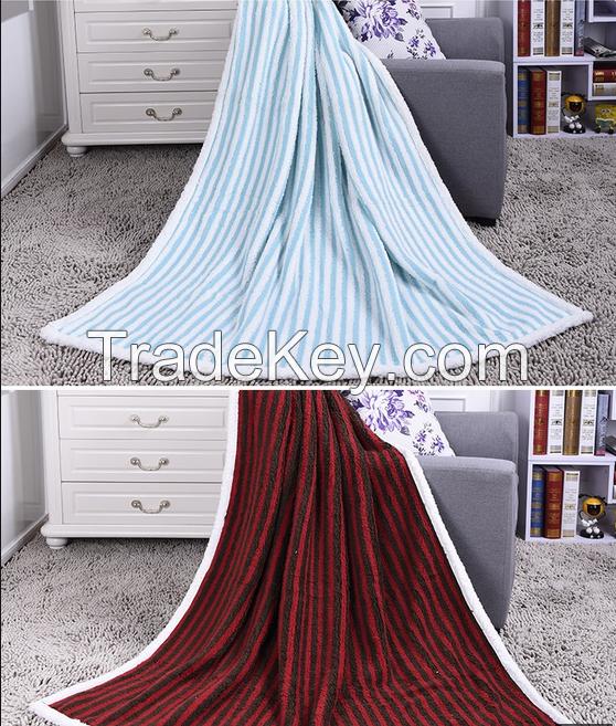 fake fur fleece blanket