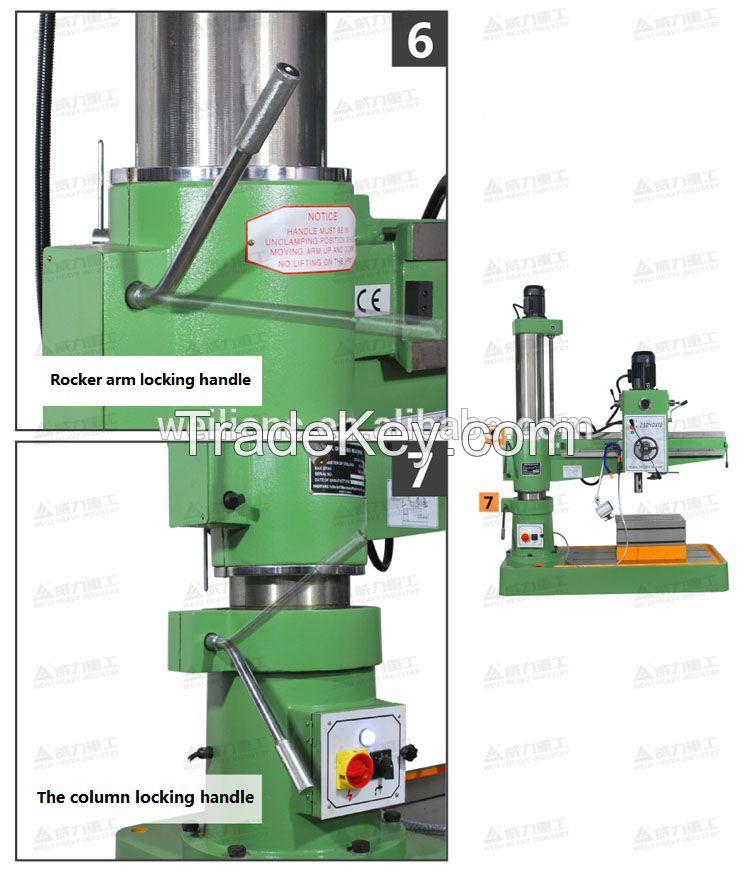 radial drilling machine ZQ3050x16