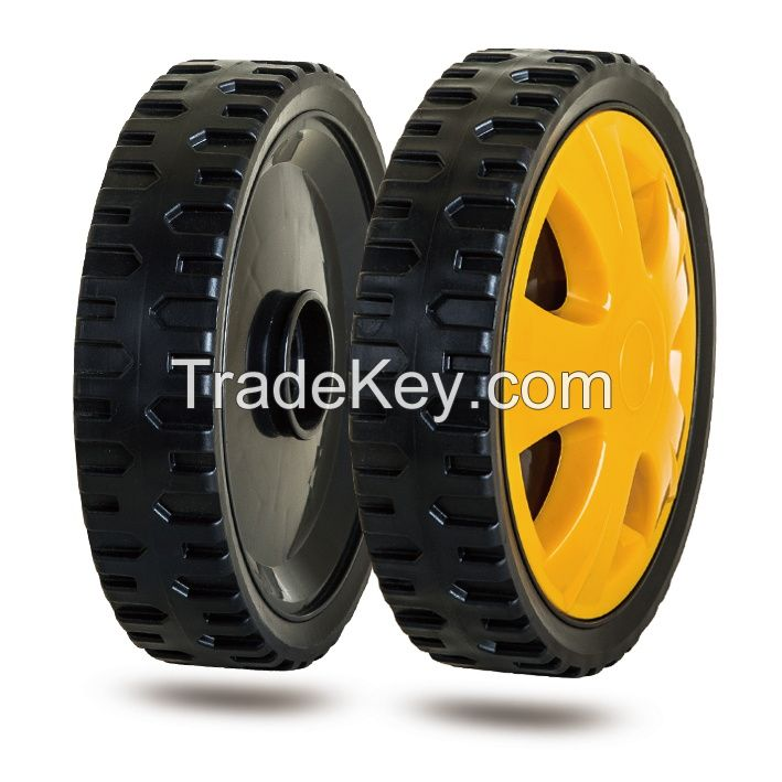 7 inch plastic wheel with a lid