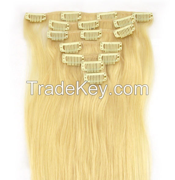 100% Human Hair Cheap Clip-in Hair Extension