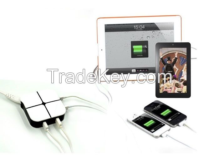 GTTC-N302 4 USB Travel charger application for car or mobile