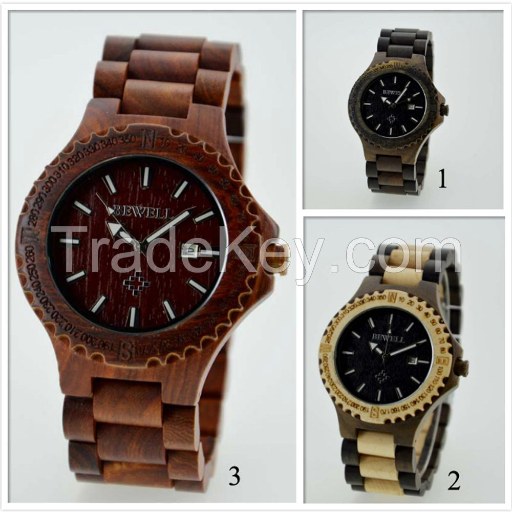 New Fashion Men Wood Watch,Environment Wood Watches Men