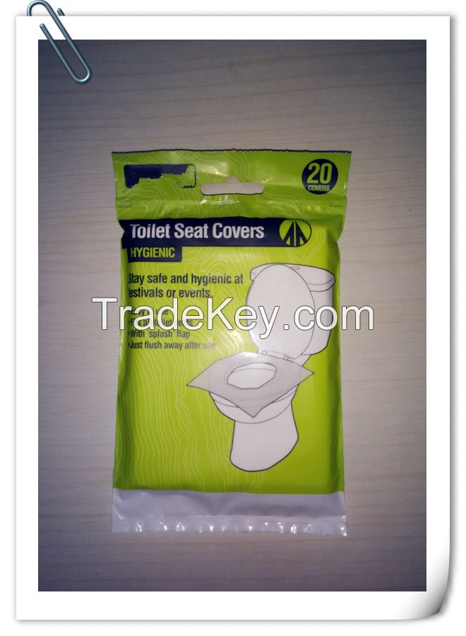 1/16 Fold Disposable Paper Toilet Seat Covers pocket pack