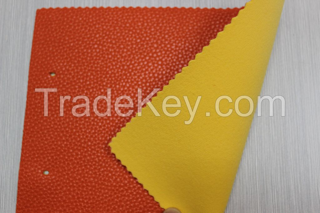 Guanghzhou top quality embossed pvc artificial sponge leather for car seat, sofa