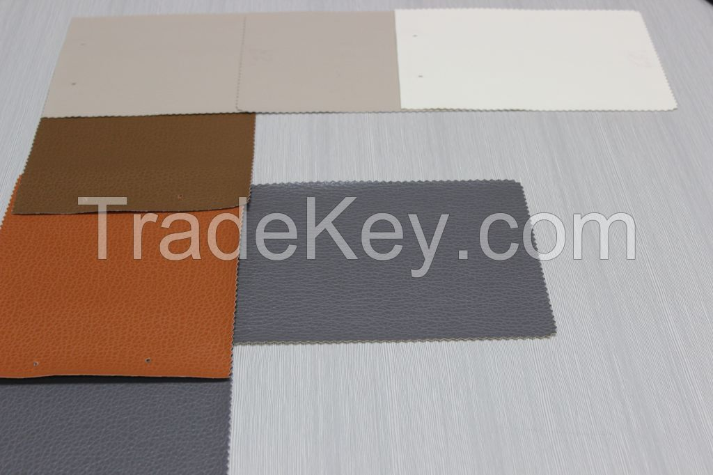 Factort price lichee pattern embossed pvc leather for car seat , sofa