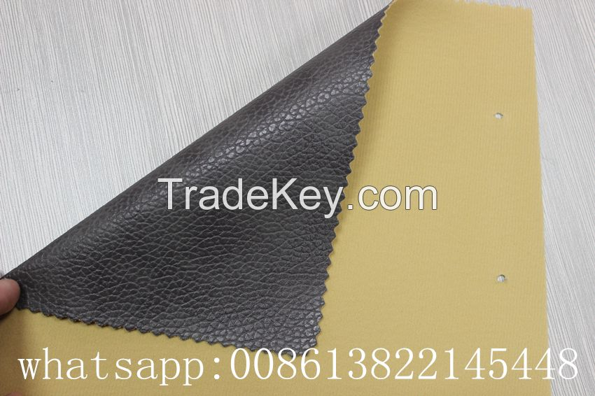 Cheap price high quality embossed pvc artificial leather for sofa, car seat