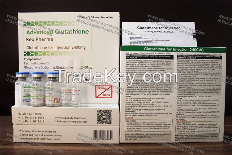 Skin Whitening Injectable Glutathione IV without side effects
