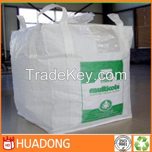 Wholesale high quality big bag PP bulk bag/FIBC bag/ supersack 1 ton bag, top open bottom discharge 100% new virgin resin china