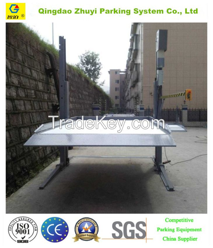 two post car parking lift with CE
