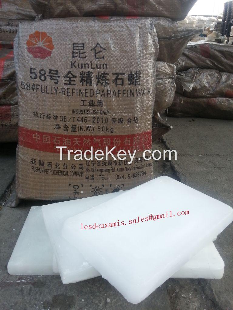 58 Fully refined paraffin wax, Kunlun Brand,