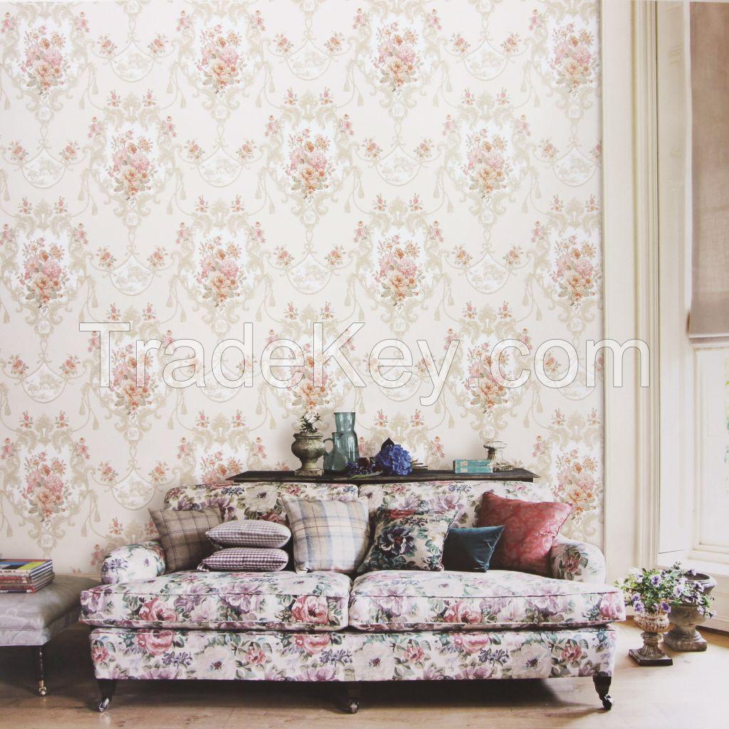 Korean Wallpaper PVC Vinyl washable wall paper bedroom living room decoration