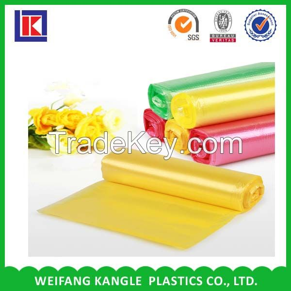 plastic star sealed bottom can liner