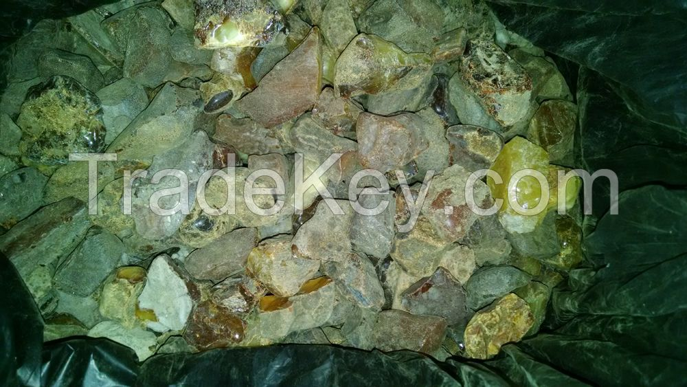 Rough amber for succinate acid