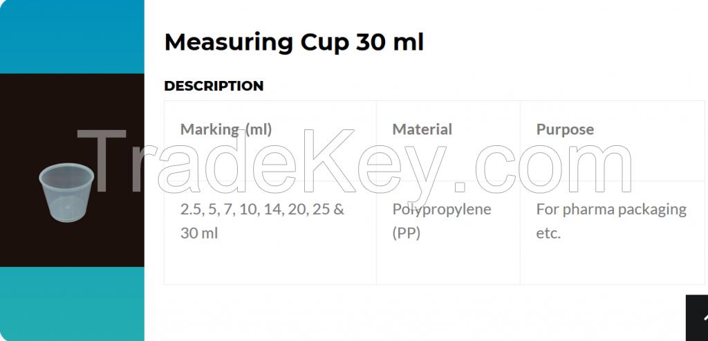 Measuring cup 10 ml / 15 ml / 17 ml / 20 ml / 24 ml / 25 ml / 30 ml