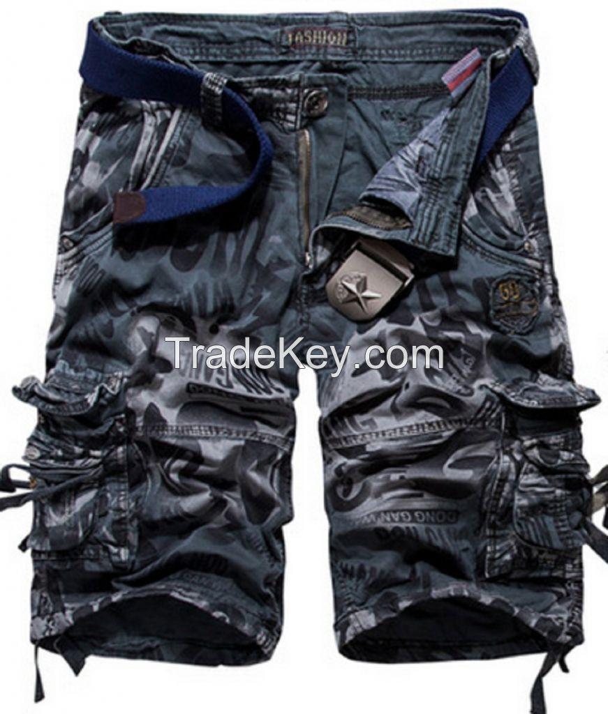 LOVECC Men's Cotton Loose Fit Multi Pocket Cargo Shorts Sold on Amazon