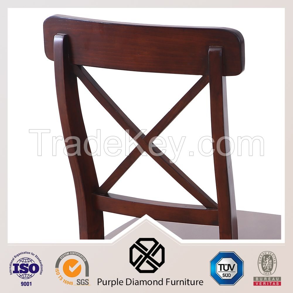Cross Back Dining Chair X-Back Wood Chair Dining Chair