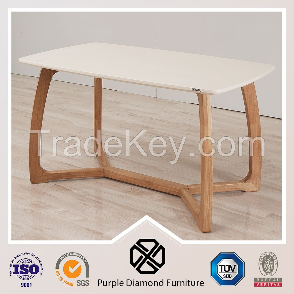 Scandinavian furniture dining room wood chair and table