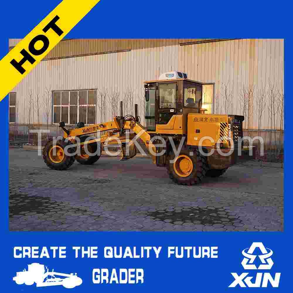 80Hp 6ton Tyre 16/70-20 PY980 grader road bed equipment/land leveling machine/motor grader