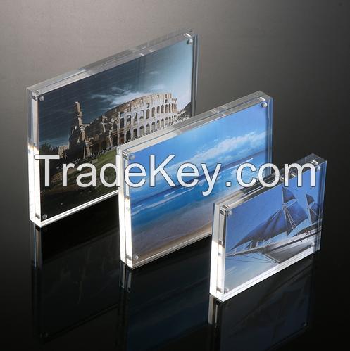 2016 custom handmade magnetic acrylic photo frame