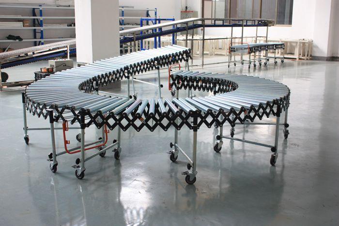 Flexible Expandable Gravity Zinc Plated Steel Roller Conveyor