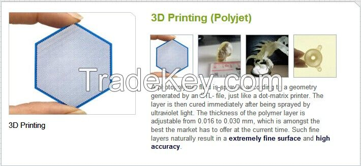 Laser 3D printing Rapid Prototyping process ABS like 3Dsystems M3-X wh