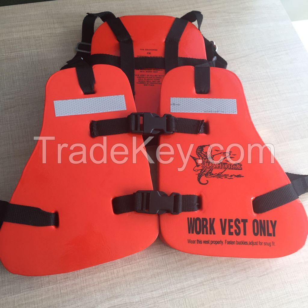 good quality life jacket vest on workwear