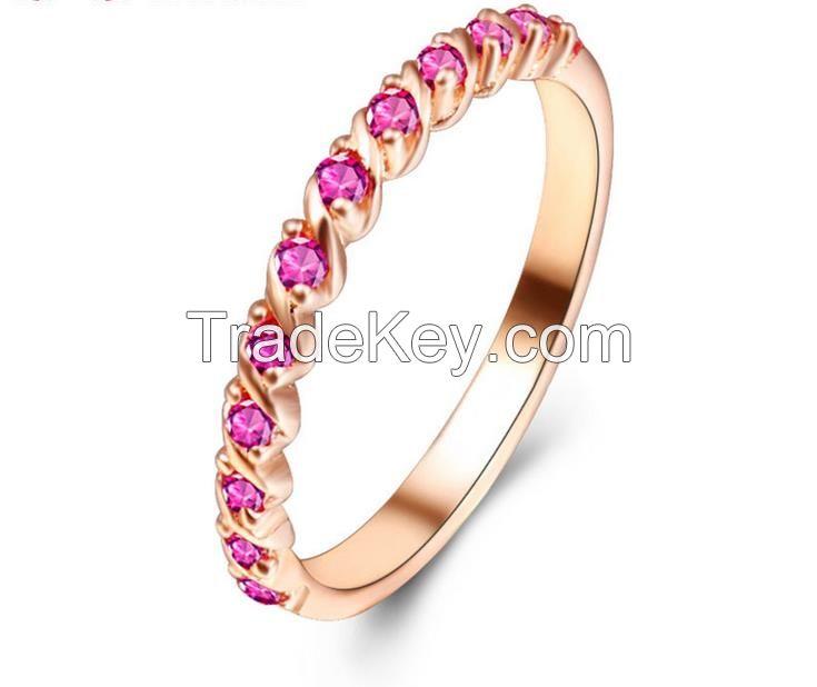 Fashion sterling silver wedding rings band