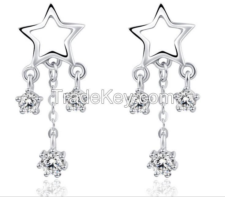 Fashion star chandelier earring OEM