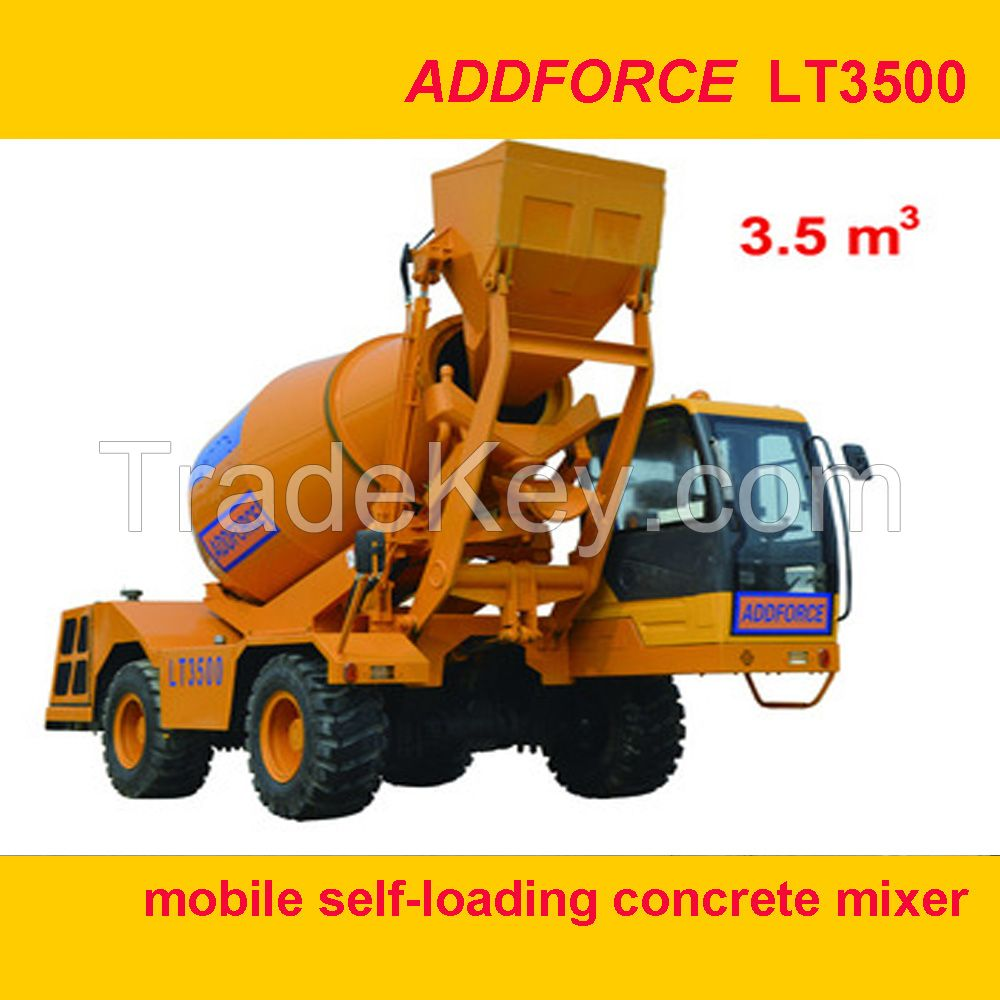 ADDFORCE mobile self-loading concrete mixer