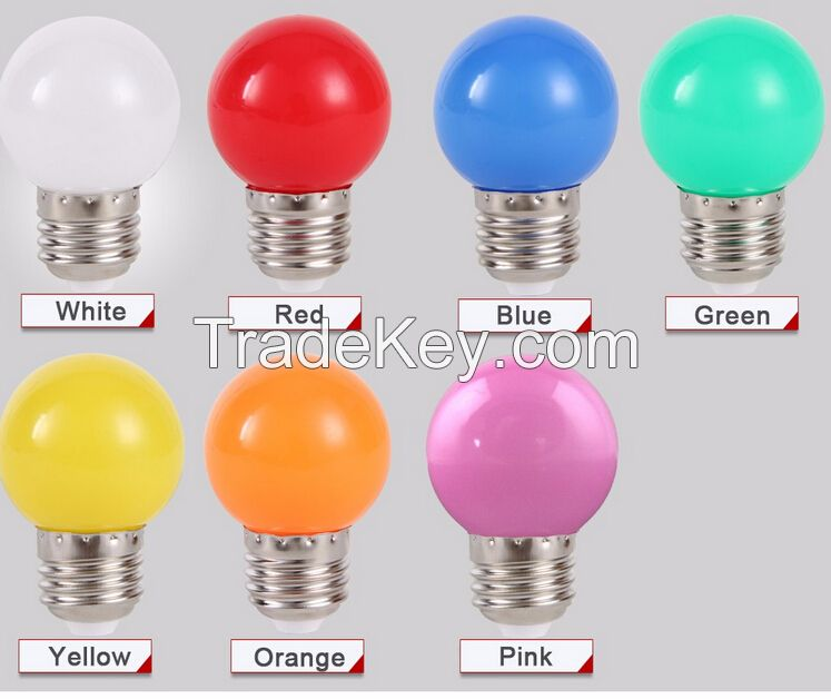 Home Lighting Colorful Led Bulb E27 3w Energy Saving White Red Blue Green Yellow Orange Pink Lamp Light Smd 2835
