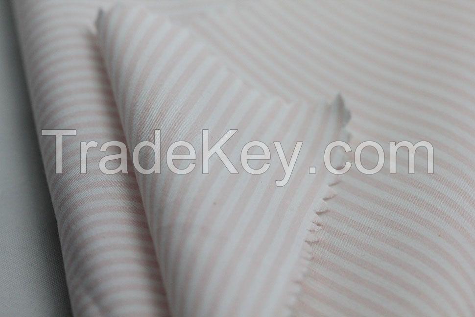 pink white stripe printed fabric