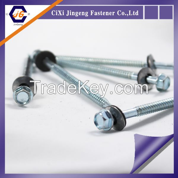 Hex washer head flange type galvanized wood roofing screws