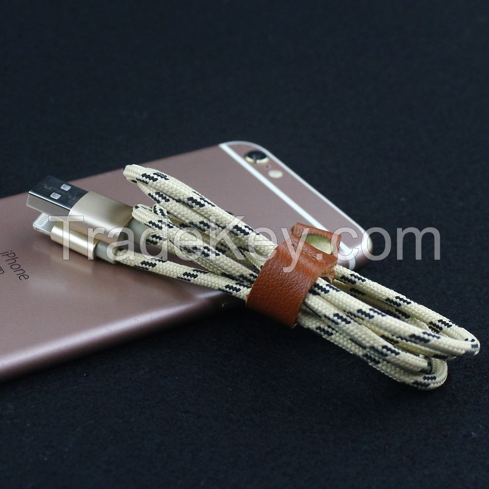 2016 High quality usb data cable for iphone, 8pin usb data cable