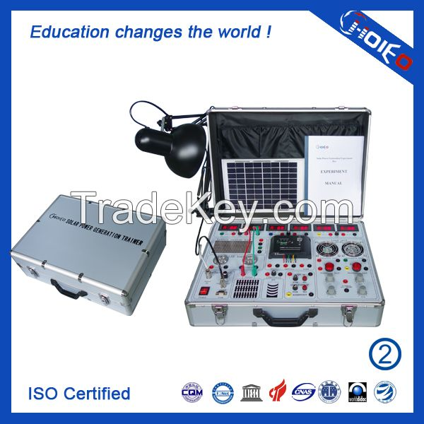 Solar Power Generation Experiment Box, solar simulator teaching trainer lab, educational skills assessment training equipment