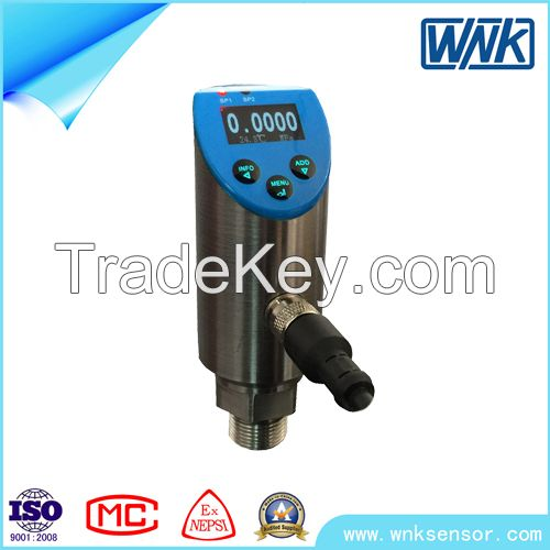 High Precision Pressure Switch with Rotable OLED
