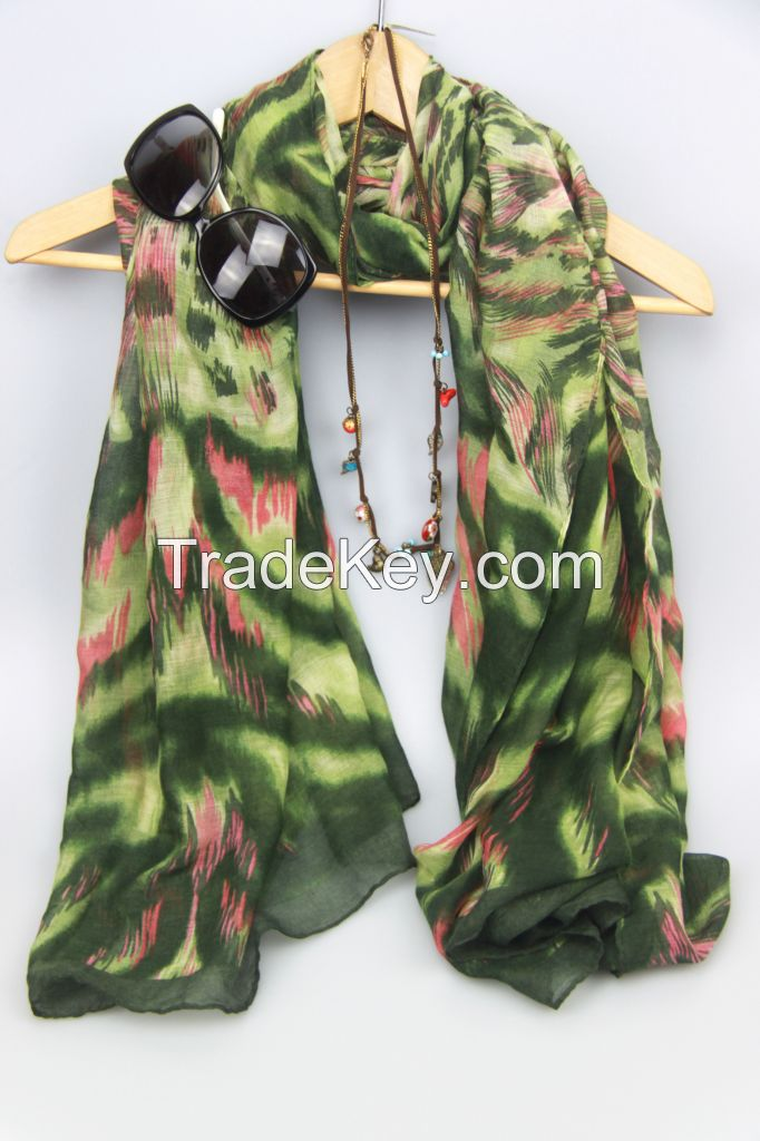 Top Fashion New Arrival Printed Voile Lady Scarf