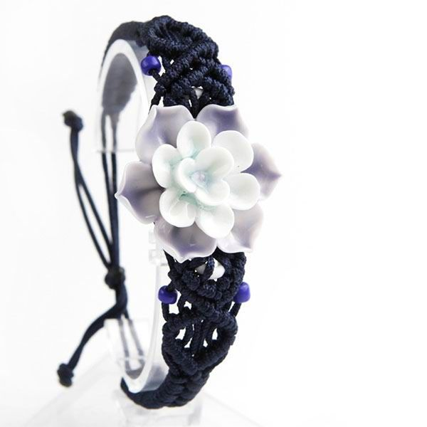Lotus Flower Porcelain Bracelet